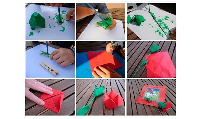 Psico Ayuda Infantil - Manualidades infantiles para el día de Sant Jordi